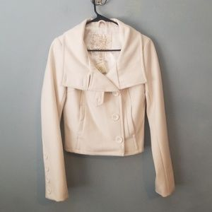 Arden b. Winter white wool blend coat nwt
